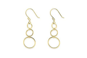 3 gold circle earrings