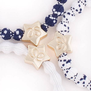 White & Navy With Gold Star Bangle Band