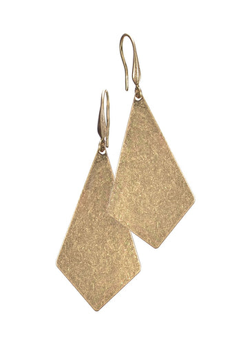 gold kite shaped party earrings