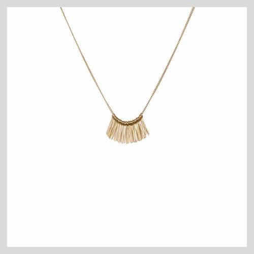 Rose Gold Fringe Necklace