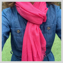Load image into Gallery viewer, Bright Pink Scarf