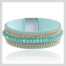 Load image into Gallery viewer, Mint Green Magnetic Bracelet Cuff