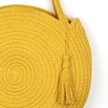 "Load image into Gallery viewer, ""Ibiza"" Yellow Round Tassel Bag"