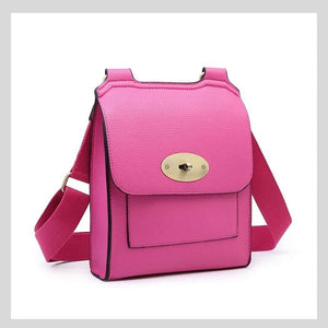 fuchsia pink mulberry style messenger bag