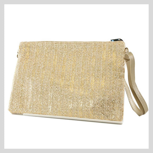Metallic Gold Clutch Bag
