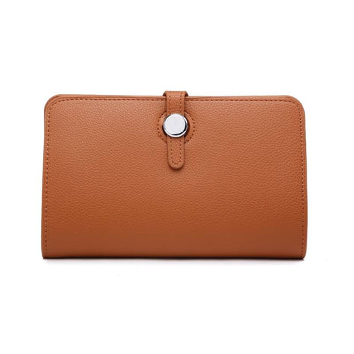 tan wallet purse