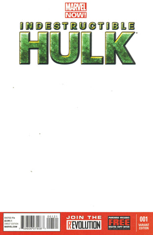 Indestructible Hulk #1 Blank Variant Cover