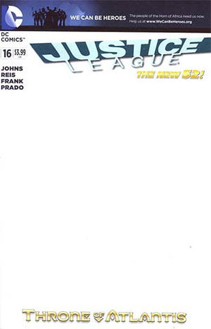 Justice League #16 Blank Variant Cover