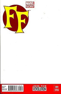 FF #1 NOW Blank Variant Cover