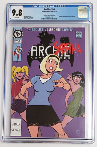 Archie #700 Sabrina Homage Variant Cover CGC 9.8