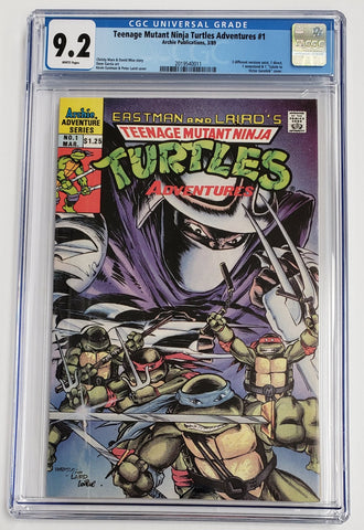 TEENAGE MUTANT NINJA TURTLES ADVENTURES #1 CGC 9.2