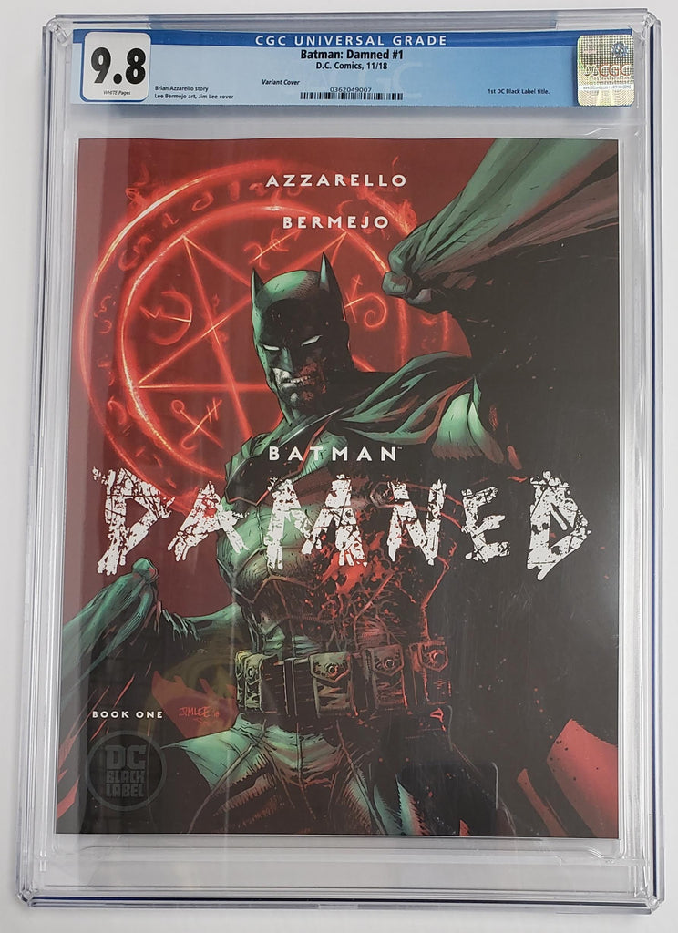 BATMAN DAMNED #1 JIM LEE VARIANT COVER CGC 9.8