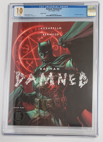 BATMAN DAMNED #1 JIM LEE VARIANT COVER CGC 10.0