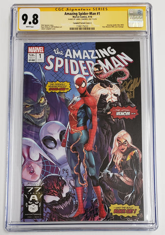 AMAZING SPIDER-MAN #1 Homage Variant CGC SS 9.8 Signed by Jamal Campbell