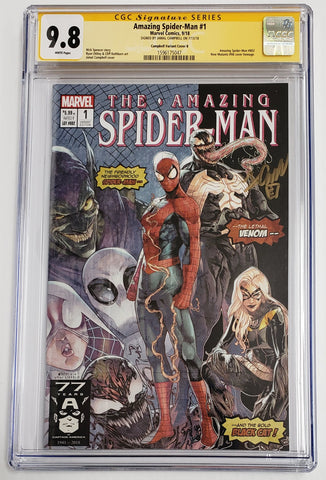 AMAZING SPIDER-MAN #1 Homage Variant B CGC SS 9.8 Signed by Jamal Campbell