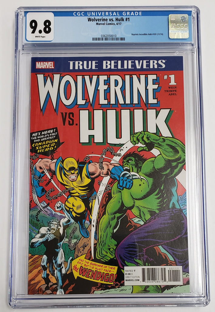 True Believers: Wolverine vs Hulk #1 CGC 9.8
