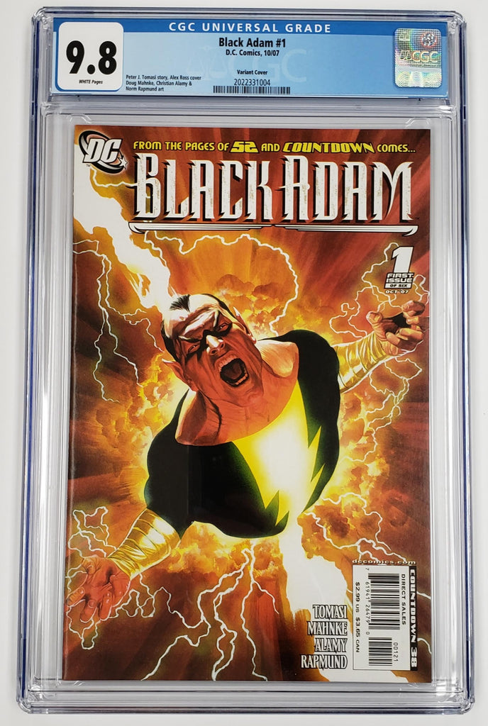 BLACK ADAM #1 ALEX ROSS VARIANT COVER CGC 9.8