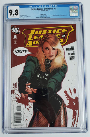 Justice League of America #6 CGC 9.8 Adam Hughes Variant