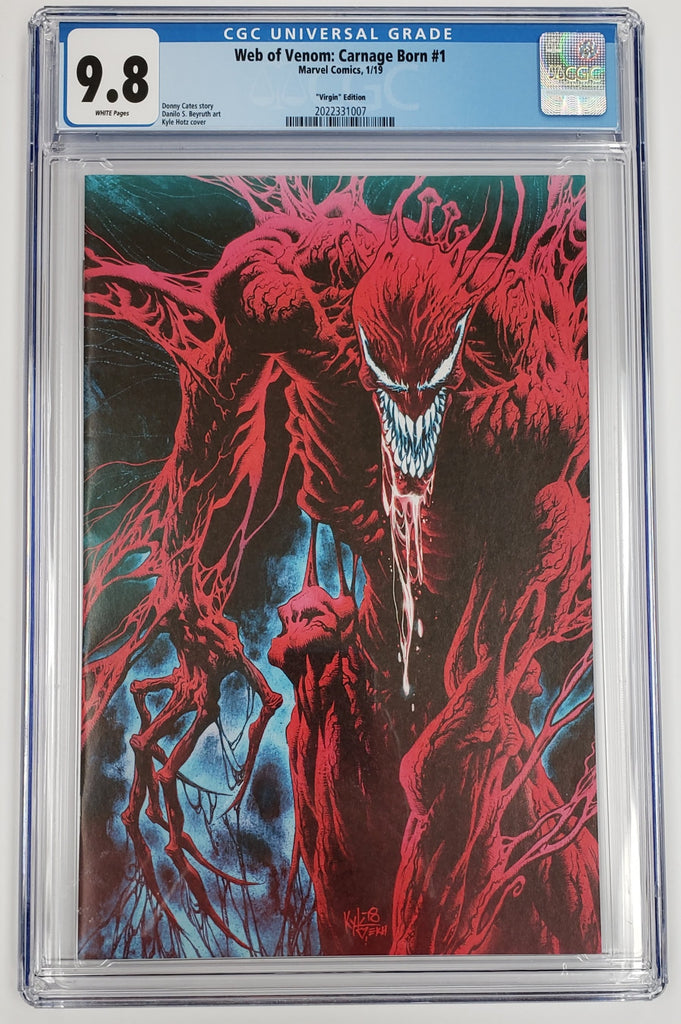 WEB OF VENOM CARNAGE BORN #1 CGC 9.8 1:100 HOTZ VIRGIN VARIANT