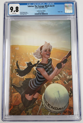SABRINA THE TEENAGE WITCH #1 EXCLUSIVE ADAM HUGHES VIRGIN VARIANT CGC 9.8