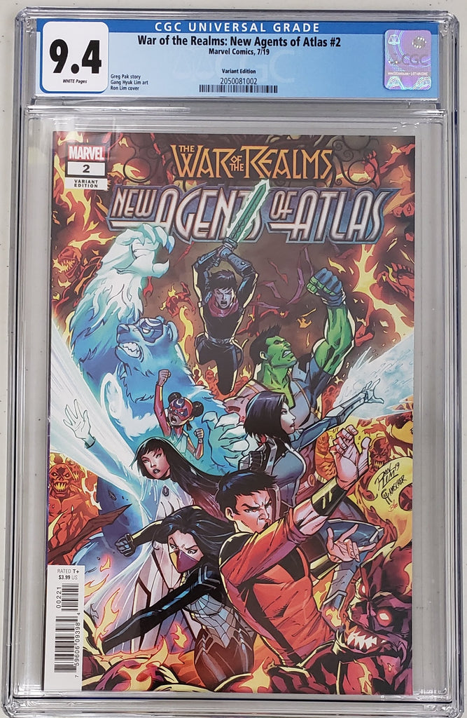 War of the Realms New Agents of Atlas #2 - Ron Lim 1:25 Variant - CGC 9.4