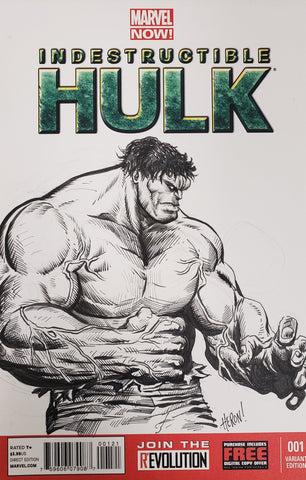 Hulk #1 Blank Variant with sketch by Shane Heron