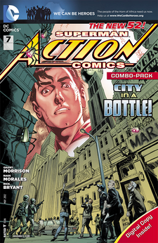 ACTION COMICS #7 combo pack variant