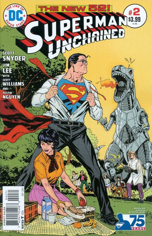 SUPERMAN UNCHAINED #2 75TH ANNIV VARIANT BRONZE AGE