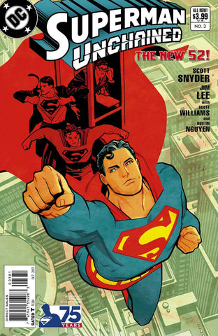 SUPERMAN UNCHAINED #3 75TH ANNIV VARIANT MODERN AGE