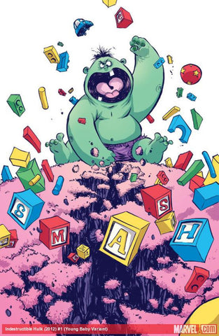 Indestructible Hulk #1 Skottie Young Variant
