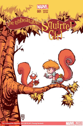 UNBEATABLE SQUIRREL GIRL #1 Skottie Young Variant