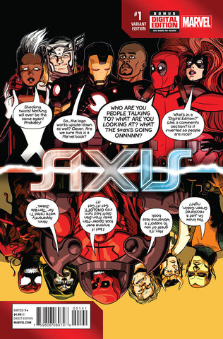 AVENGERS AND X-MEN AXIS #1 (OF 9) DEADPOOL PARTY VARIANT