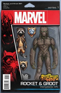 Rocket Raccoon and Groot #1 Action Figure VARIANT Cover