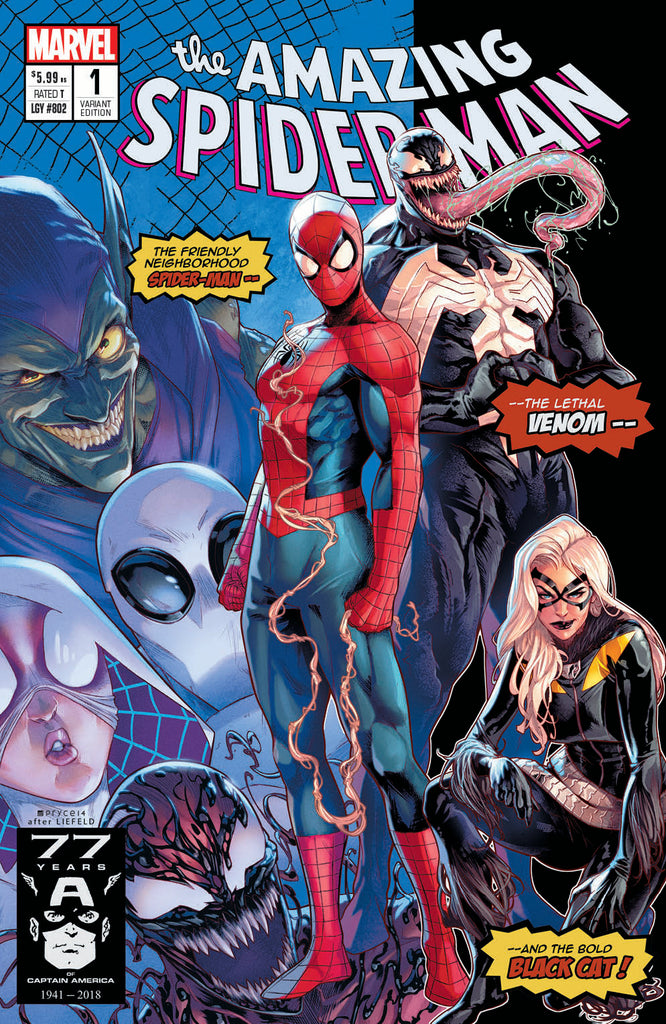 AMAZING SPIDER-MAN #1 Stadium Exclusive Jamal Campbell Homage Variant Cover