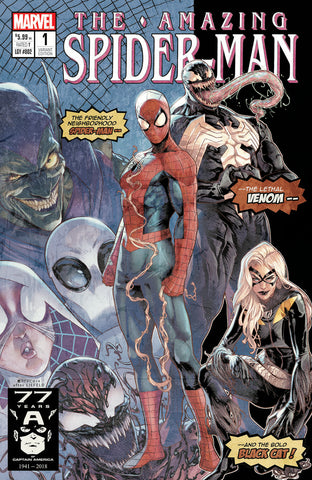 AMAZING SPIDER-MAN #1 Stadium Exclusive Jamal Campbell Homage Variant Cover (1000 Copy )
