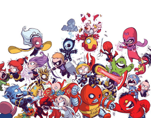 AVENGERS VS X-MEN BY SKOTTIE YOUNG POSTER 1ST