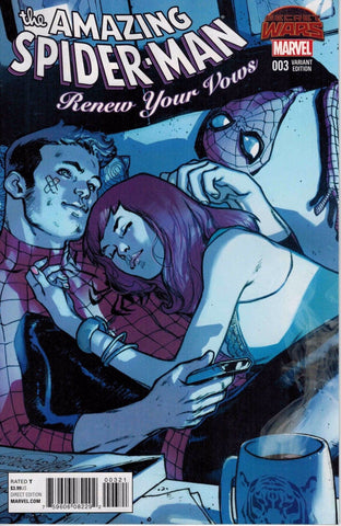 AMAZING SPIDER-MAN RENEW YOUR VOWS #3 PICHELLI VARIANT SWA