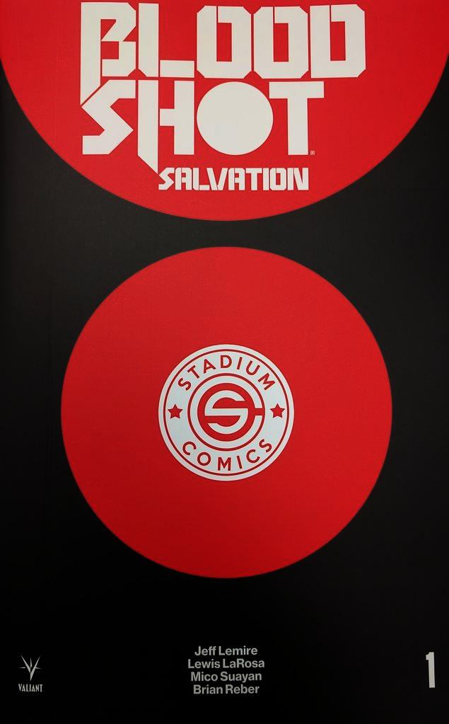 Bloodshot Salvation #1 Stadium Logo Variant Cover