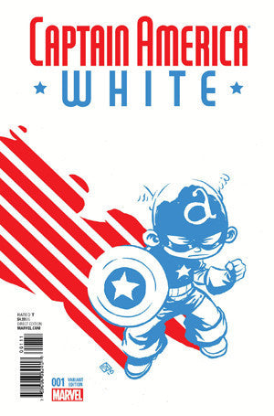 CAPTAIN AMERICA WHITE #1 SKOTTIE YOUNG VARIANT