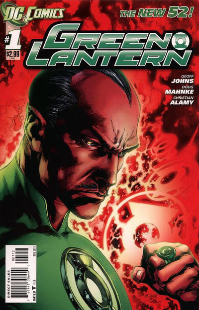 GREEN LANTERN #1 2nd Print Variant Cover