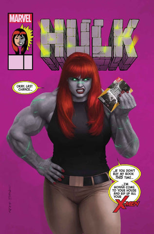 HULK #7 Mary Jane Variant Cover by Rahzzah
