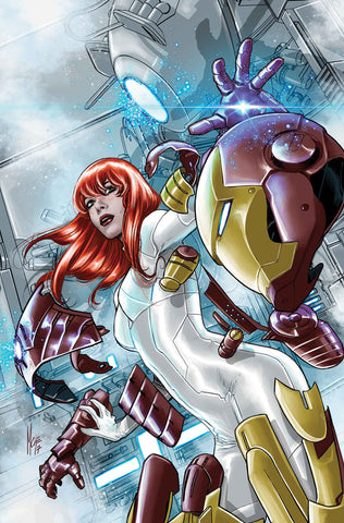 INVINCIBLE IRON MAN #8 Mary Jane Variant Coverby Marco Checchetto