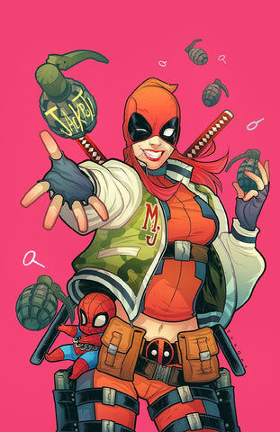 DEADPOOL #32 Mary Jane Variant Cover by Elizabeth Torque