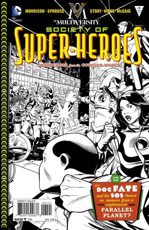 MULTIVERSITY THE SOCIETY OF SUPER-HEROES #1 BLACK & WHITE