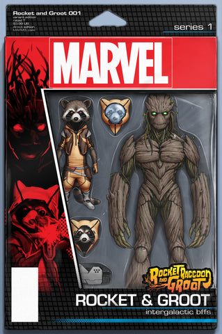 ROCKET RACCOON AND GROOT #1 CHRISTOPHER ACTION FIGURE VARIANT