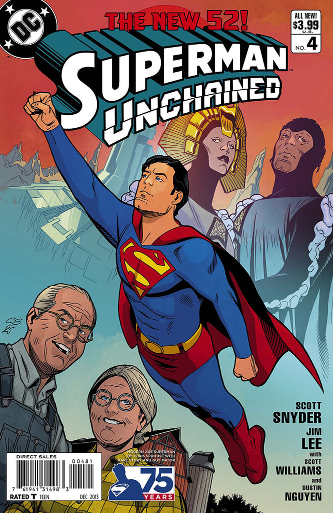 SUPERMAN UNCHAINED #4 75TH ANNIV VARIANT MODERN AGE