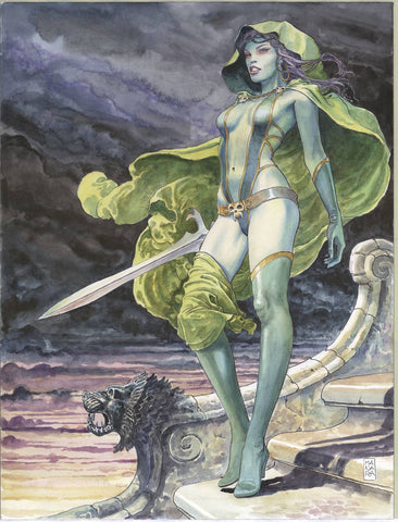 GUARDIANS OF GALAXY GAMORA BY MILO MANARA POSTER