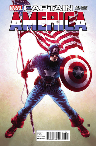 CAPTAIN AMERICA #25 - 1:50 MCNIVEN VAR - 1st Sam Wilson as Cap