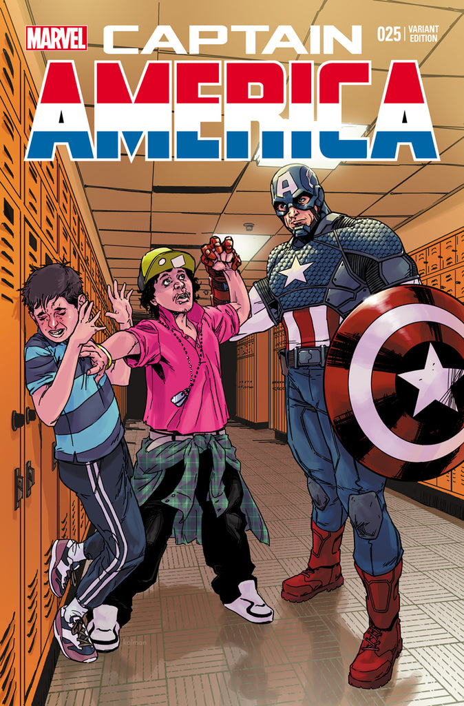 CAPTAIN AMERICA #25 BULLYING VAR - 1st Sam Wilson as Cap