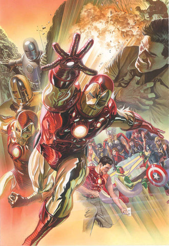 IRON MAN 75TH ANNIVERSARY BY ALEX ROSS POSTER